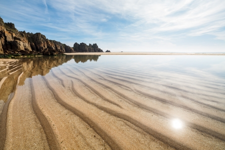 porthcurno: Photo of Pedn Vounder Beach near Porthcurno Cornwall England UK Europe