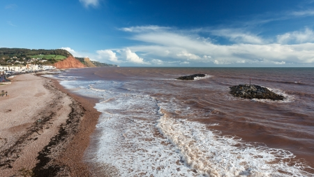 Overlooking Sidmouth Beach Devon England England UK Europe photo