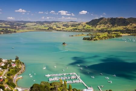 newzealand: Whangaroa Harbour from St Paul Rock, North Island, New Zealand Stock Photo