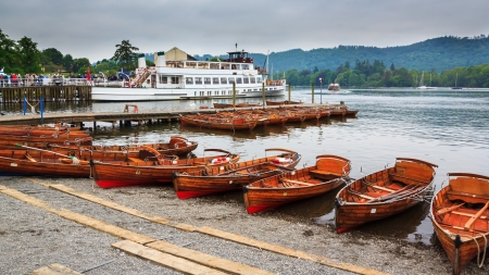 Lake Windermere in the English Lake District UK Europe Stock Photo - 24854333