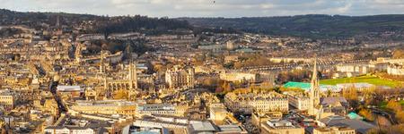 alexandra: Overlooking the Georgian City of Bath from Alexandra Park on top of Beechen Cliff, Somerset England Uk Europe