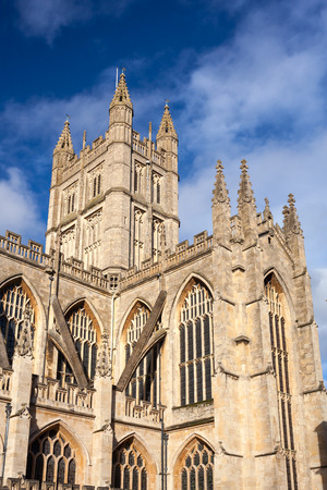 county somerset: The Abbey Church of Saint Peter and Saint Paul, Bath, commonly known as Bath Abbey, Somerset, England