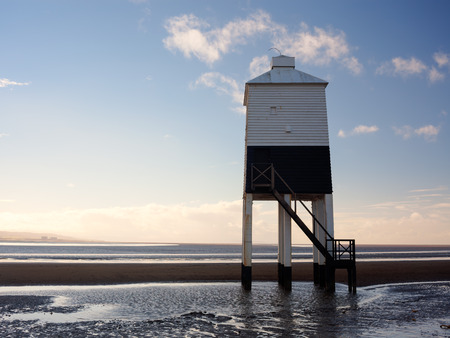 burnham: The Low 1832 Wooden Lighthouse at Burnham on Sea, Somerset England UK Europe Stock Photo
