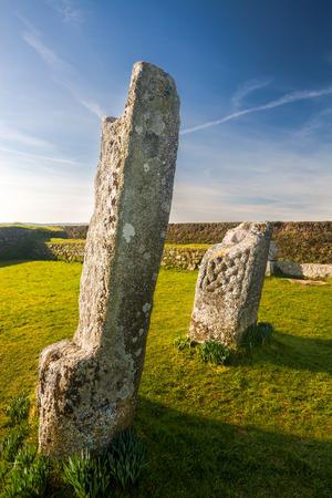 bodmin: King Donierts Stone near St Cleer, Bodmin Moor, Cornwall.