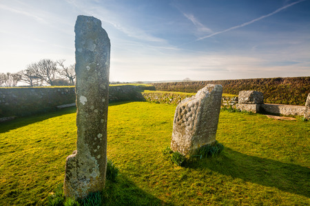 King Donierts Stone near St Cleer, Bodmin Moor, Cornwall. photo