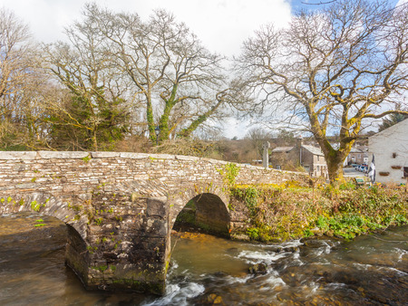 bodmin: Historic Pack Horse Bridge at Altarnun on Bodmin Moor Cornwall England UK Europe Stock Photo