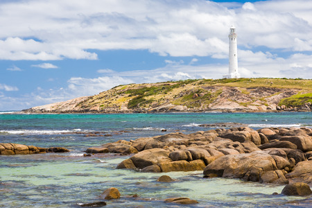 augusta: Beach at Cape Leeuwin with the lighthouse in the distance, Augusta Western Australia wa