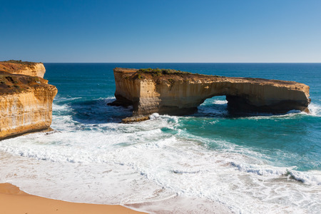 London Bridge Rock Arch, Great Ocean Road, Victoria Australia photo