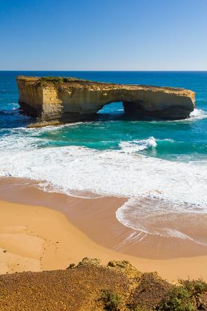 rock arch: London Bridge Rock Arch, Great Ocean Road, Victoria Australia Stock Photo