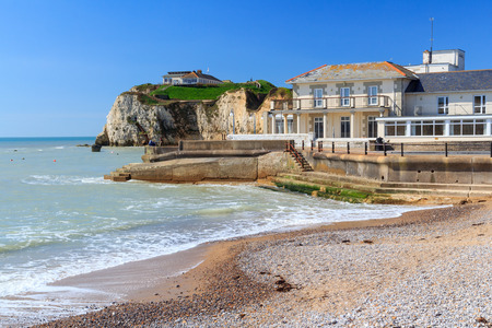 Beach at Freshwater Bay on the Isle Of Wight England UK Europe Editorial