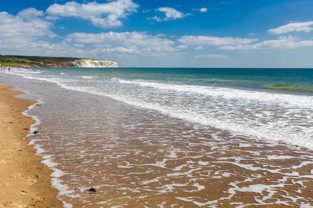 Sandown Beach on the Isle Of Wight England UK Europe