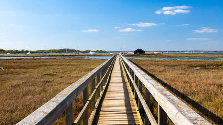 Boardwalk at Newtown Harbour National Nature Reserve Isle Of Wight England photo