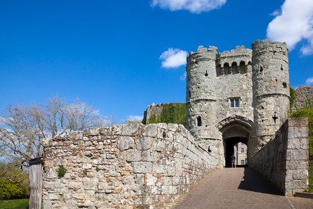 serf: Ch�teau de Carisbrooke sur l'�le de Wight en Angleterre au Royaume-Uni en Europe