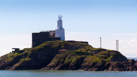 cymru: The 1794 Mumbles Lighthouse Gower Wales UK Europe