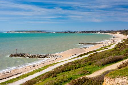 dorset: Overlooking Highcliffe Beach Dorset England UK Europe