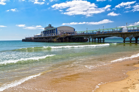 bournemouth: Bournemouth Beach and Pier Dorset England UK Europe Editorial