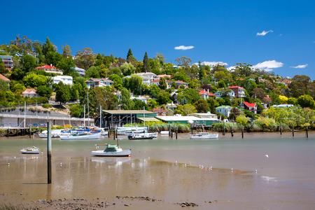 River Tamar Launceston Tasmania Australia as seen from from Kings Park Stock Photo