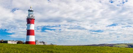 祝う Eddystone の灯台、・ スミートンのタワーはプリマスに再建された旧鍬それ画期的なデザイン。 写真素材