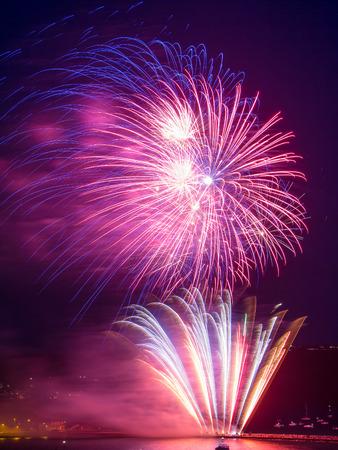 pyrotechnic displays: British Firework Championships 2014 at Plymouth Devon England Uk Europe Stock Photo