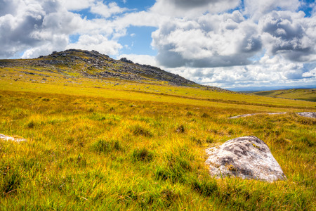 bodmin: Rough Tor on Bodmin Moor is the second highest point in Cornwall England UK Europe