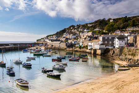 Beautiful summers day at Mousehole Harbour near Penzance Cornwall England UK Europe