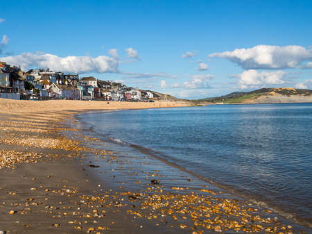 lyme: The beautiful beach at Lyme Regis in Dorset, England