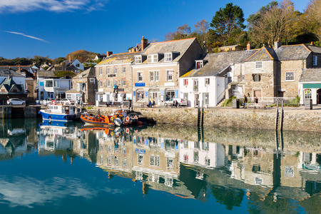 Reflections in Padstown Harbour Cornwall England UK Europe