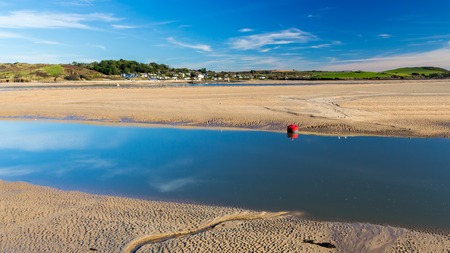 estuary: View across the beautiful Camel Estuary to Rock from Padstow Cornwall England UK Europe