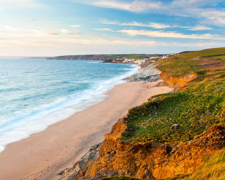 Coastpath approaching Porthleven from Loe Bar Cornwall England UK Europe Stock Photo