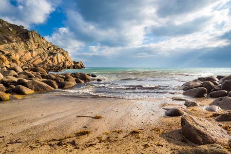 cornwall: Small beach at Penberth Cove Penwith Cornwall England UK Europe