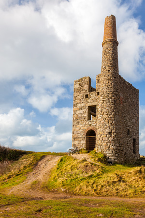 ding: Greenburrow pumping engine house at the historic Ding Dong Mine Cornwall England UK Europe Editorial