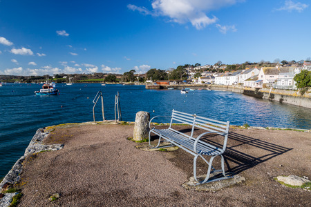 flushing: The coastal village of Flushing on the Penryn River, Part of the Carrick Roads Cornwall England UK Europe