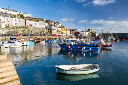 The historic harbour at Mevagissey on the South Coast of Cornwall England UK Europe