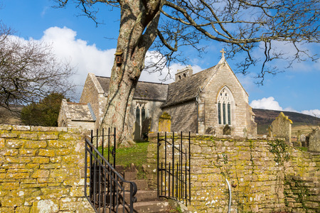 marys: St. Marys church Church at Tyneham a ghost village in South Dorset, England,on the Isle of Purbeck