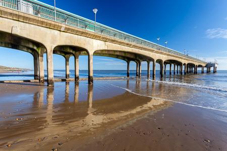 dorset: Beautiful sunny day at Boscombe Pier near Bourneouth Dorset England UK Europe