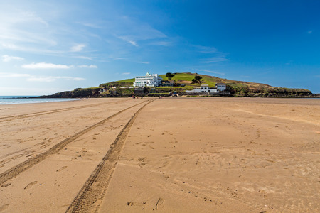 burgh: The tidal island of Burgh Island off the coast of Bigbury-On-Sea South Hams Devon England UK Europe