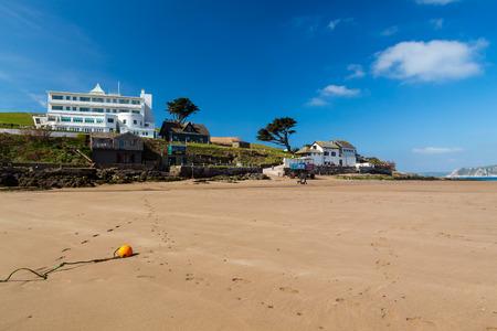 jamones: The tidal island of Burgh Island off the coast of Bigbury-On-Sea South Hams Devon England UK Europe