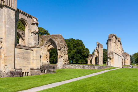 english west country: The ruins of Glastonbury Abbey Somerset England UK Europe