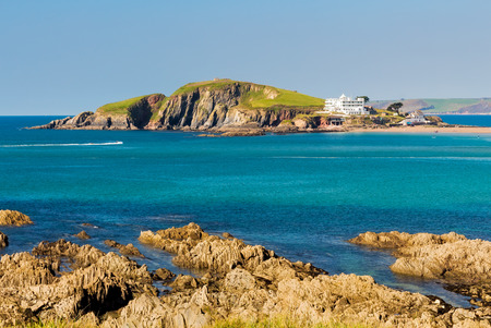burgh: Burgh Island as seen from Bantham Devon England UK Europe Stock Photo