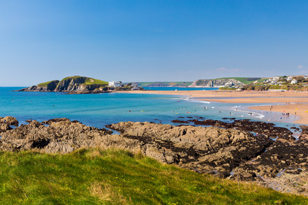 burgh: Views towards Burgh Island as seen from Bantham Devon England UK Europe Stock Photo