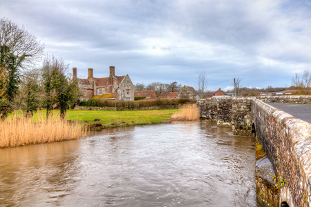 crossings: The River Frome at Wool Dorset England UK Europe
