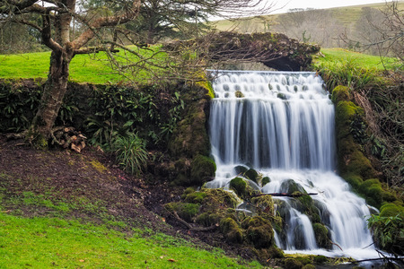 gb: Small waterfall at the village of Little Bredy Dorset England UK Europe Stock Photo