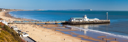 Overlooking Bournemouth Beach and Pier Dorset England UK Europe