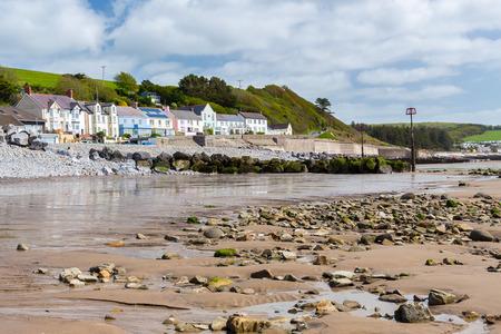 pembrokeshire: Beach and village at Amroth Pembrokeshire Wales UK Europe