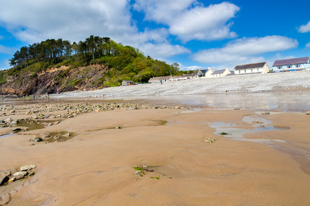 pembrokeshire: Beautiful beach at Amroth Pembrokeshire Wales UK Europe Stock Photo