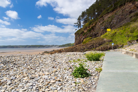 cymru: Beautiful beach at Amroth Pembrokeshire Wales UK Europe Stock Photo