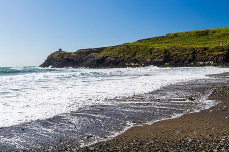 pembrokeshire: Abereiddy Beach on the Pembrokeshire coast of Wales UK Europe