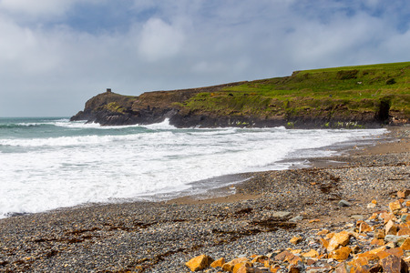 cymru: Abereiddy Beach on the Pembrokeshire coast of Wales UK Europe