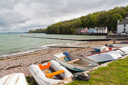 pembrokeshire: Boats at Dale is a small village  on the Pembrokeshire coast of West Wales UK Europe Stock Photo