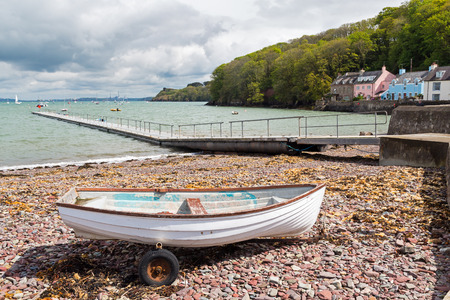 cymru: Boats at Dale is a small village  on the Pembrokeshire coast of West Wales UK Europe Stock Photo